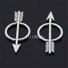 15pc Tibet Silver Arrow Pendant Charm Beads found connector accessories PL774