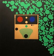 SIGNED 1992 ABSTRACT MODERNIST 22/75 SERIGRAPH PRINT FEUX EDITION LA SEINE
