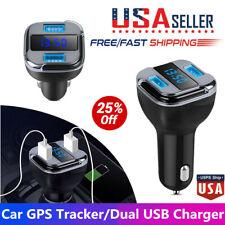 Automóvil Unidad de seguimiento GPS localizador de tiempo real encontrar el dispositivo de Coche Doble USB Cargador de coche Voltímetro