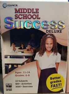 Topics Learning  Middle School Success Deluxe Ages 11-14 Grade's 6-8 (LOC TUB L8