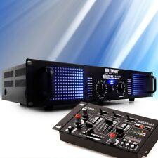 PA DJ System 2400 Watt Verstärker USB Mischpult Party Musiksystem Partyanlage