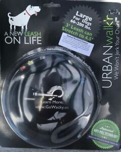 Urban Walk'r Leash/Brand New 3' stretches to 4.5'/Large New in package/Black
