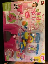 NEW Kids Toy Pretend Kitchen Cooking Playset with Lights & Sounds Great Gift