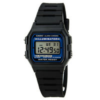 Casio Men's Illuminator Alarm Chrono Digital Black Resin Watch F105W-1A
