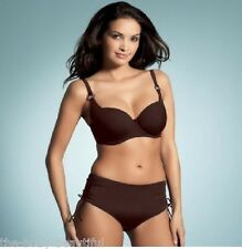 34E~FANTASIE ORLANDO BALCONY BIKINI BRA/-10 RUCHED SIDED SHORT-UK-SMALL