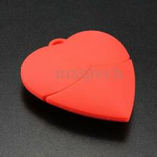 32GB Red Heart Shaped USB 2.0 Flash Drive Memory Stick Disk Storage Wedding Gift
