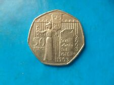 EXTREMELY RARE 50p Pence Coin. Queen Elizabeth 2003 Suffragette. Votes for Women