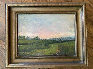Antique landscape painting By James Spindler