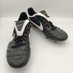 Nike Mens Tiempo Mystic ll SG Size 9 2008 317588-011 Black White Football Boots