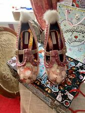 Gold Bunny Heels With Fluffy Tail & Pink Sequins Size 40 Not Irregular Choice 💝