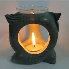 Koi Fish Oil Burner - Soapstone - Hand Carved
