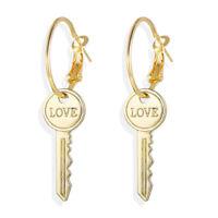 Fashion Love Key Drop Dangle Earrings Statement Punk Earrings Women Jewelry MD
