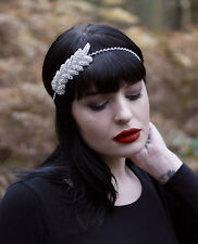 Silver Rhinestone Headdress 1920 Charleston Flapper Headband Vintage Flapper S24