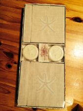 Mud Pie - Starfish Linen Tower & Soap Set