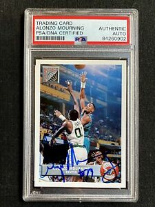SIGNED 1992-93 UPPER DECK ALONZO MOURNING MCDONALD ROOKIE CARD PSA/DNA AUTO RC