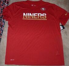 cccbb90a0 NEW NFL San Francisco 49ers T Shirt Men NIKE 2XL XXL Dri Fit NEW NWT