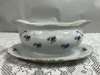 Winterling - REMEMBRANCE - Bavaria Germany - Gravy Boat Attached Underplate