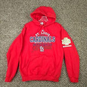 St Louis Cardinals 2011 MLB World Series Champs Medium Red Hoodie Sweatshirt