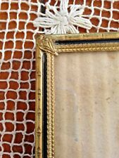 Vintage Solid Brass Bamboo Edge Designs Portrait Picture Frame 7 X 10