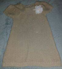 cherokee gold sparkle short sleeved shimmer sweaterdress. Size 4t