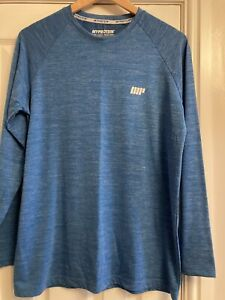 Mens Myprotein Long Sleeved T Shirt/Workout Top, Blue, Size L
