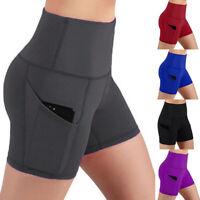 Damen Leggings Shorts Kurze Yoga Fitness Leggings Jogging Kurze Sport Hose Short