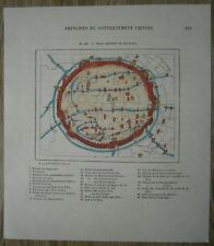 1882 Perron map CHINESE QUARTER, SHANGHAI, CHINA (#118)