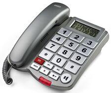 SAIET TELEFONO FISSO MACRO SOS II TASTO SOS PER ANZIANI TASTI GRANDI DISPLAY
