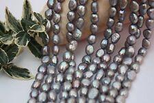 BR401 Zuchtperlen Strang Süßwasser Perlen Schmuck Ketten Halskette 8-9mm barock