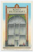 Atlantic City, NJ postcard - Kents Restaurant - beautiful Art Deco card