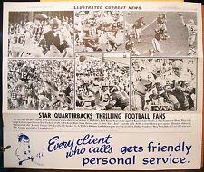 1966 ICN Poster Bart Starr Jack Kemp Don Meredith Unitas Joe Namath Dick Butkus