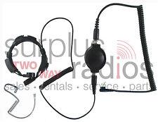 Throat Mic Headset For Motorola 2 Pin Radios Cp200 Pr400 Cp185 Bpr40 P1225 Gp300