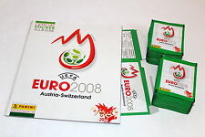 Panini EM EC Euro 2008 08 – 100 Tüten packets GRÜN GREEN + Display Box + ALBUM