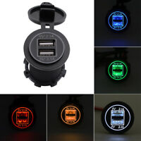 CO_ 4.2A Dual USB Car Phone Charger Modification Double Aperture for Motorcycle