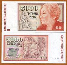 Chile, 5000 (5,000) Pesos, 2008, P-155, AA-Prefix, UNC
