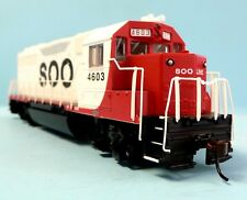 HO Scale Model Railroad Trains Engine Soo Line GP-40 Locomotive DCC & Sound