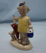Mabel Lucie attwöll stile FIGURINA 1930s Vintage Antico Figura in ceramica con Cane *