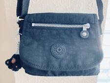 Kipling Small Black Nylon Crossbody Messenger Purse Bag Monkey Keychain Lightwgt