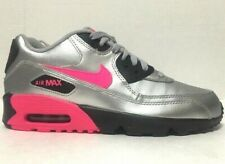 Nike Air Max 90 Running Shoes GS Silver Pink 833376-004 Size 7Y
