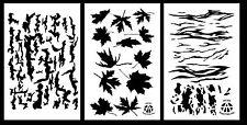 "3Pack! Spray Paint Camouflage Stencils 14"" Bark - Leafy Maple - Tiger Stripe"