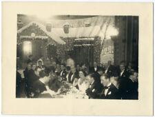 Photo Henri Roger Toulouse 24 x18 - Réveillon Lafayette 1932 repas de fête Noël