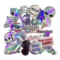 Holographic Sticker Pack Lot Random Mix, Vinyl Decal, Shiny Alien UFO 20 pcs