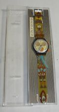 Swatch CHRONO DANCING FEATHERS! Stunning  with Glow Hands & Feather Band-NIB