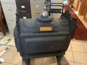 Peoria Antique Wood Burning Furnace Culter & Proctor Peoria IL. NO. 27
