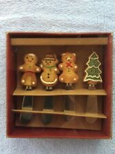 Gingerbread Stainless Steel Holiday Spreader Set of 4