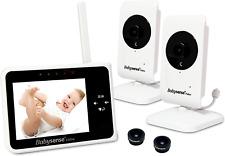 Baby Monitor Video Display 2 Cameras Night Vision Talk Back Temperature Lullabie