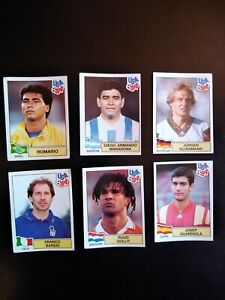 Lotto 120 figurine panini TUTTE DIFFERENTI Mondiale USA 1994 Maradona