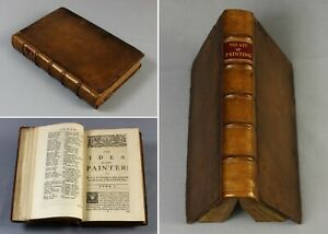 1754 Roger De Piles The Art of PAINTING + Lives of Painters artist biographies