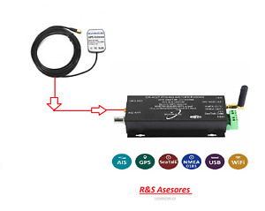 QK-A027 Wireless AIS Receiver with GPS + SeaTalk Converter with Portable GPS Ant