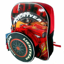 """Backpack 12"""" + Detachable Snack Bag/Utility Case Disney Cars McQueen NWT"""